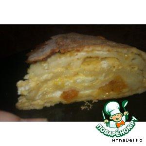 Пирог с курагой и сыром