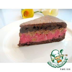 """Шоколадно-клюквенный торт """"Брюнетка"""""""