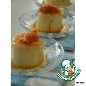 Десерт из кус-куса с морковной сальсой