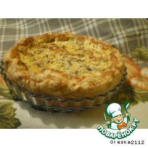 Пирог тыквенный с голубым сыром