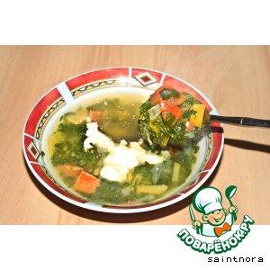 Суп с тыквой и шпинатом