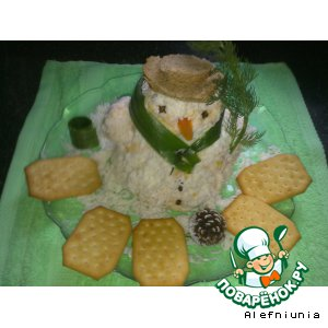 "Новогодняя закуска ""Снеговик"""