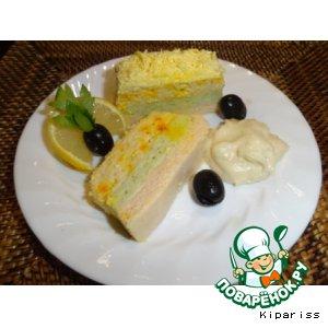Террин с лососем и морепродуктами
