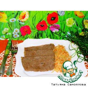 Мясной хлеб с капустным гарниром