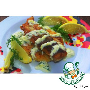 Картофельно-рисовые лепешки с рыбой