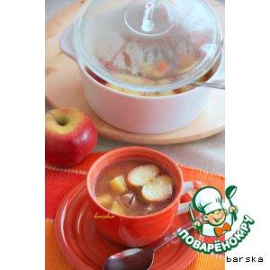 Суп из свинины с яблоком
