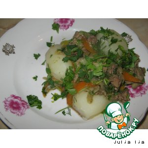 """Печень с овощами """"Быстрый ужин"""""""