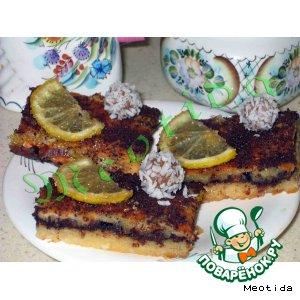 Лимонно-шоколадные пирожные
