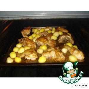 Картофельные носики с курицей