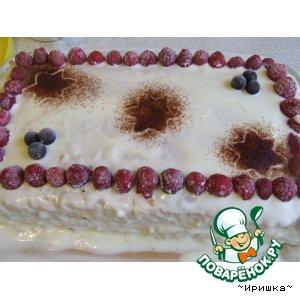 Облепиховый тортик с заварным кремом