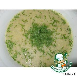 Суп из баклажанов с сыром