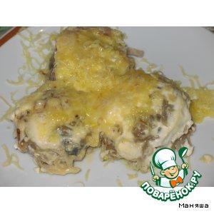 Котлеты с грибами, панированные в тертом картофеле