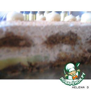 Пряничный тортик без выпечки с шоколадным кремом