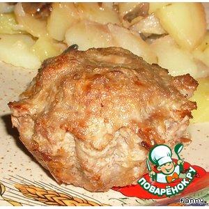 Мясные маффины с грибной начинкой