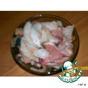 Панчай (острая соленая рыба с редькой)