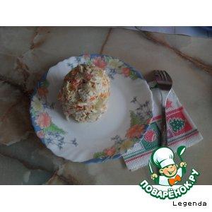 Салат куриный с крабовыми палочками