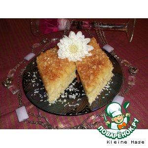 Теплый  апельсиново-кокосовый  пирог