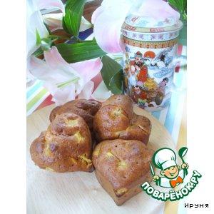 Дрожжевые ванильные кексы с ревенем