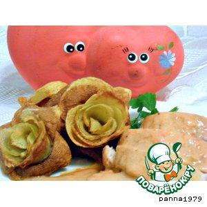 """""""Розы"""" из картошки"""