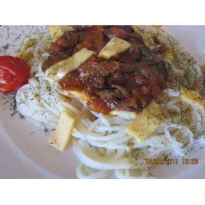 Спагетти с говядиной