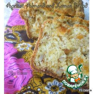 Лимонно-миндальный хлеб с курагой