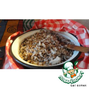 Гречнево-рисовая каша с грибным ассорти