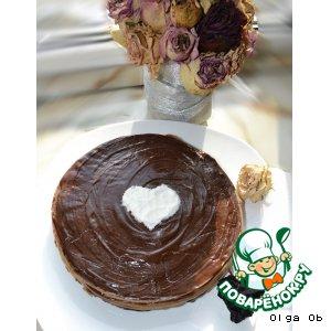 Шоколадный блинный тортик