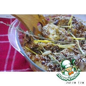 Рыбка, запечeнная с оливками и тимьяном