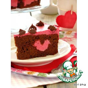 "Торт ""Пурпурное сердце"""