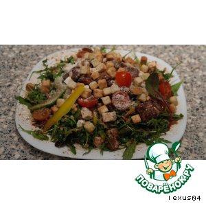 Русско-итальянский салат-микс с бальзамиком и кедровыми ядрами