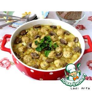 Суп с красной чечевицей и рыбными фрикадельками
