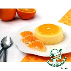 """Апельсиновый крем-десерт """"Перевертыш"""""""