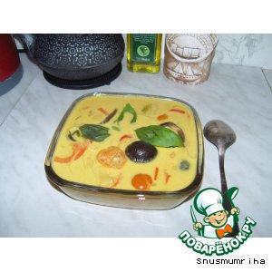 Суп на кокосовом молоке с грибами шиитаке