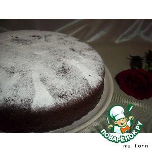 Шоколадно-кофейный пирог с финиками