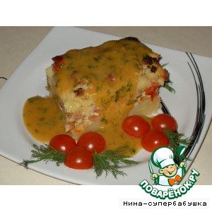 Запеканка с цветной капустой и помидорками черри