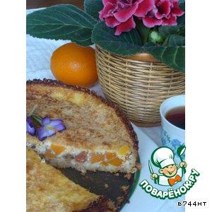 Творожно-овсяный пирог с тыквой
