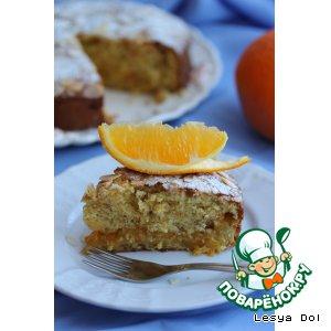 Апельсиновый пирог с апельсиновым джемом