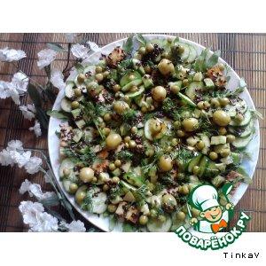 Салат «Такой зеленый, такой теплый... »