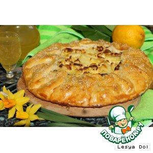 Тосканский пирог с картофелем и луком-пореем