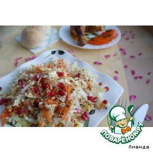 Салат из пекинской капусты с овсяными хлопьями