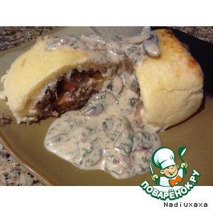 """Рулет картофельный с мясом """"Нежный"""""""