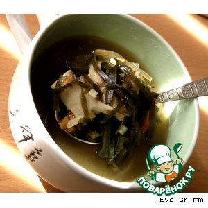 """Суп """"Шиитаке"""" с морской капустой"""