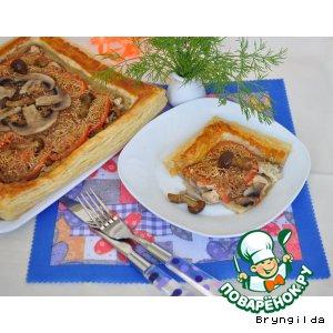 Тарт с грибами