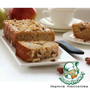 Яблочный кекс в медовой глазури