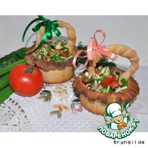 Ржаные лукошки. Хлеб-салат