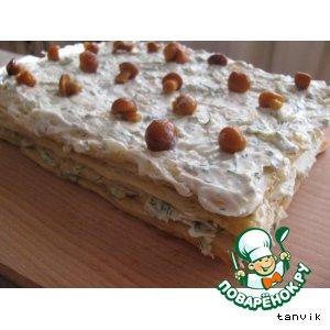 """Торт """"Наполеон"""" с сырным кремом"""