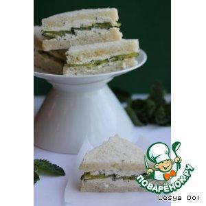 """Огуречно-мятные сэндвичи """"На пикник"""""""