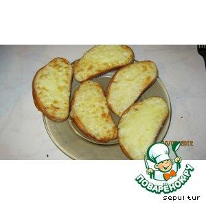 Сырно-чесночные гренки в аэрогриле