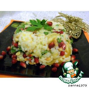 Рисовый салат с гранатом и  апельсином