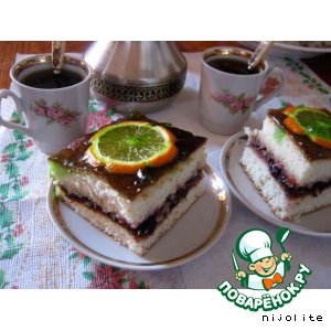 Бисквитное пирожное с апельсинами